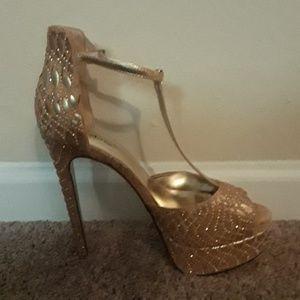 Gold BeBe Platform shoes
